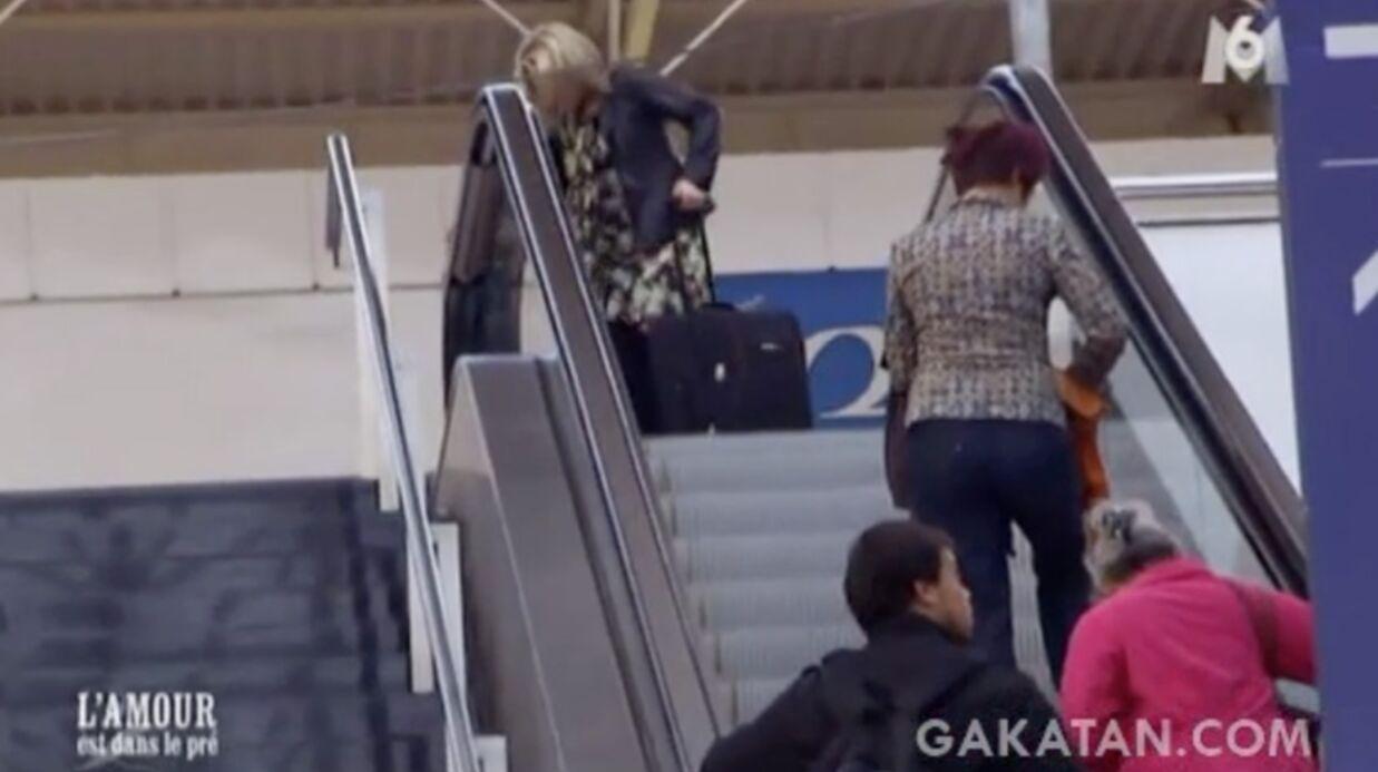 VIDEO L'Amour est dans le pré: une prétendante prend l'escalator à l'envers