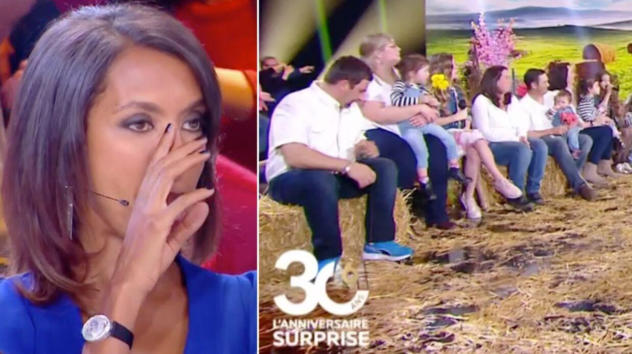 VIDEO L'amour est dans le pré: Karine Le Marchand en larmes devant la belle surprise d'anciens agriculteurs