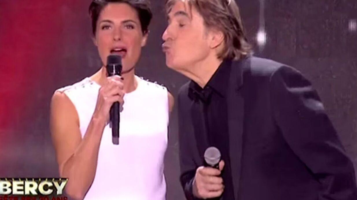 VIDEO Alessandra Sublet met le plus gros vent de l'année à Serge Lama