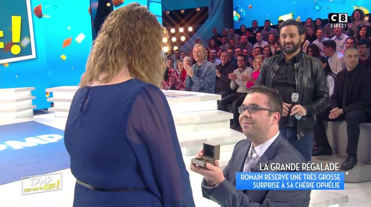VIDEO Touche pas à mon poste: le beau cadeau de Cyril Hanouna après une demande en mariage en plateau