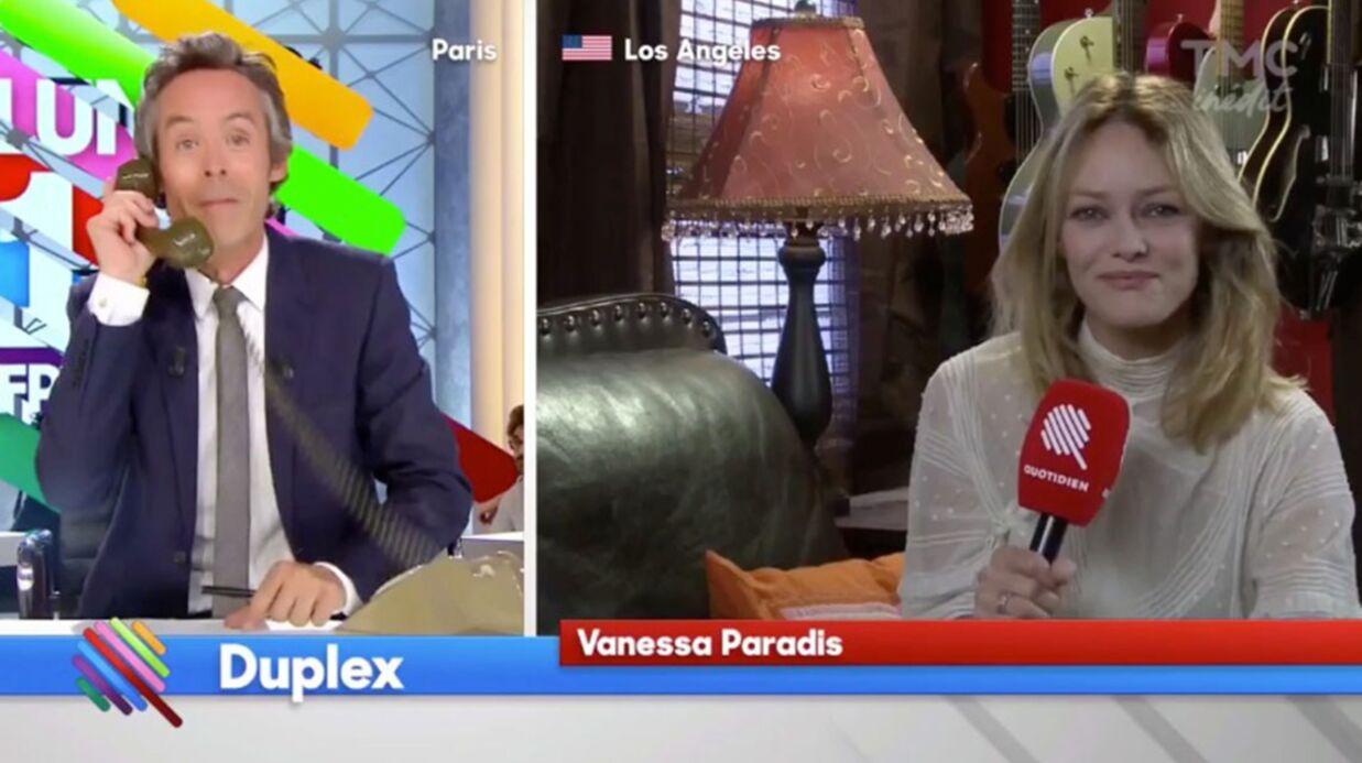 VIDEO Vanessa Paradis donne son numéro de portable à Yann Barthès: le répondeur est saturé
