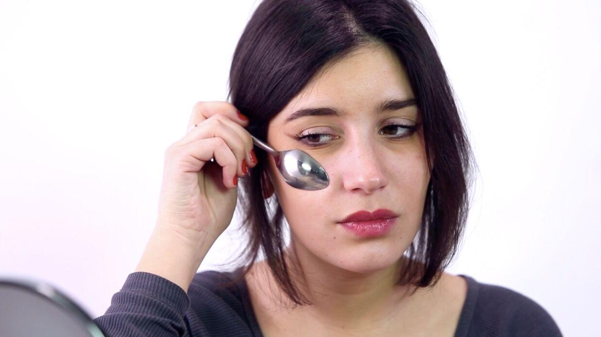 VIDEOBeauté: Anti-cernes, mascara et contouring, 3 astuces à réaliser avec une cuillère