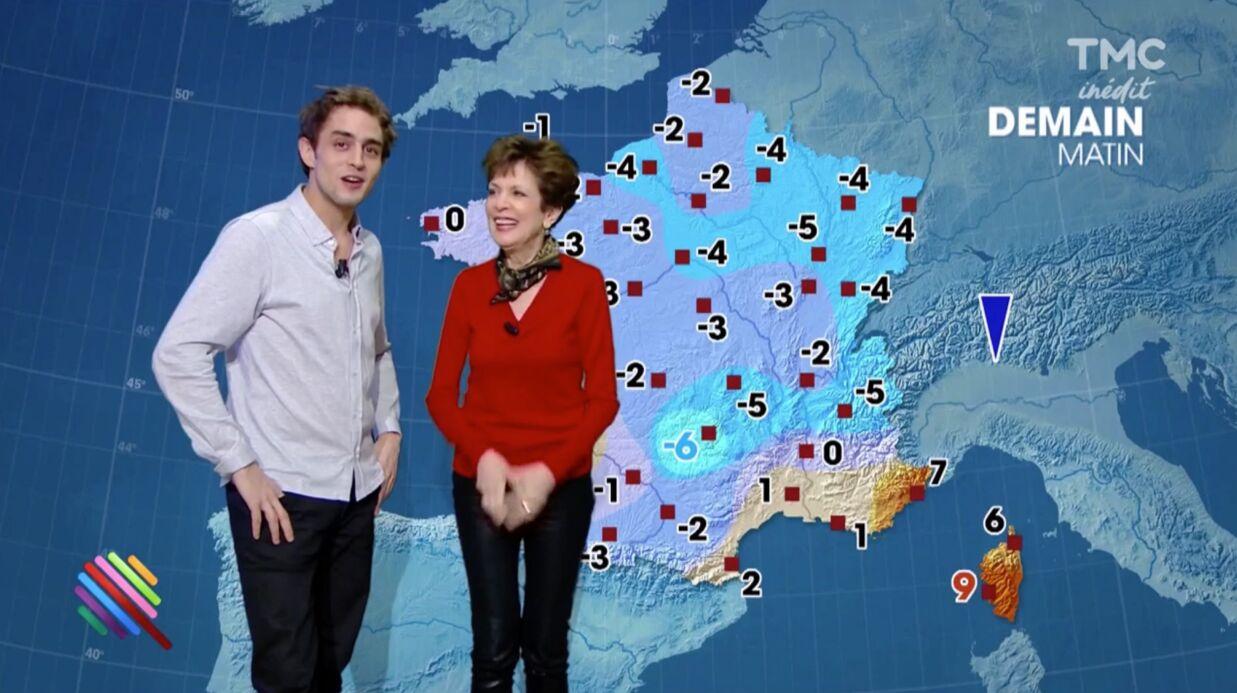 VIDEO Catherine Laborde: invitée dans Quotidien, elle ne peut pas s'empêcher de présenter la météo