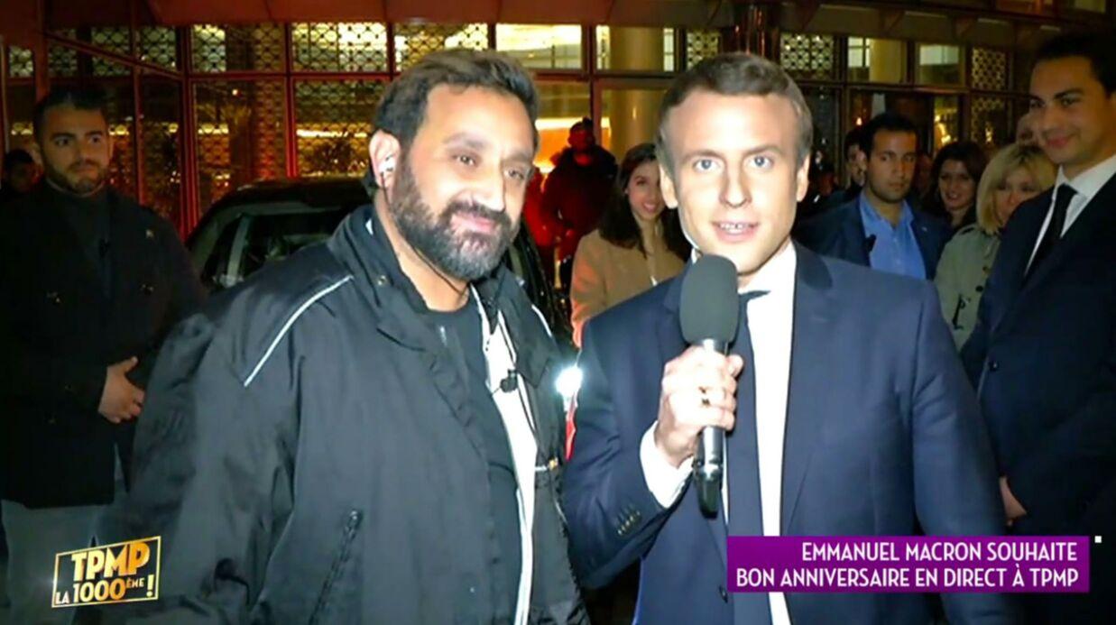 VIDEO Emmanuel Macron promet de venir en tant que président pour la 1500e de TPMP