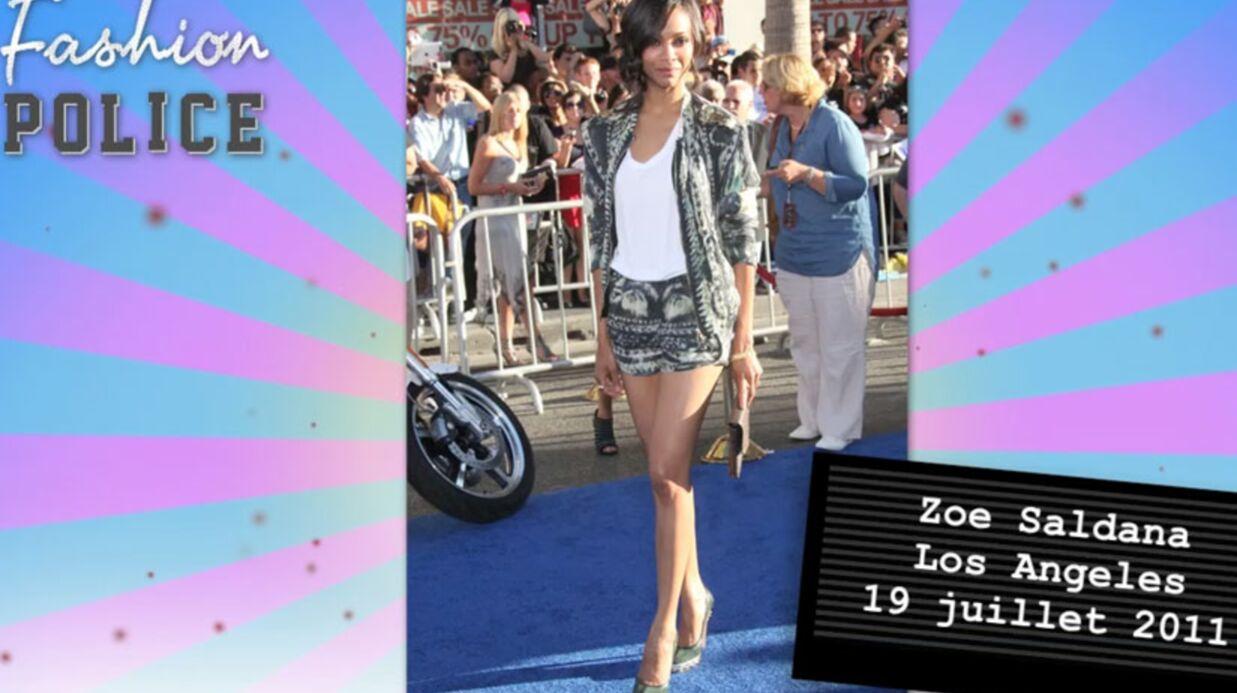 Fashion Police #4: Zoe Saldana divine, Rihanna en petite forme