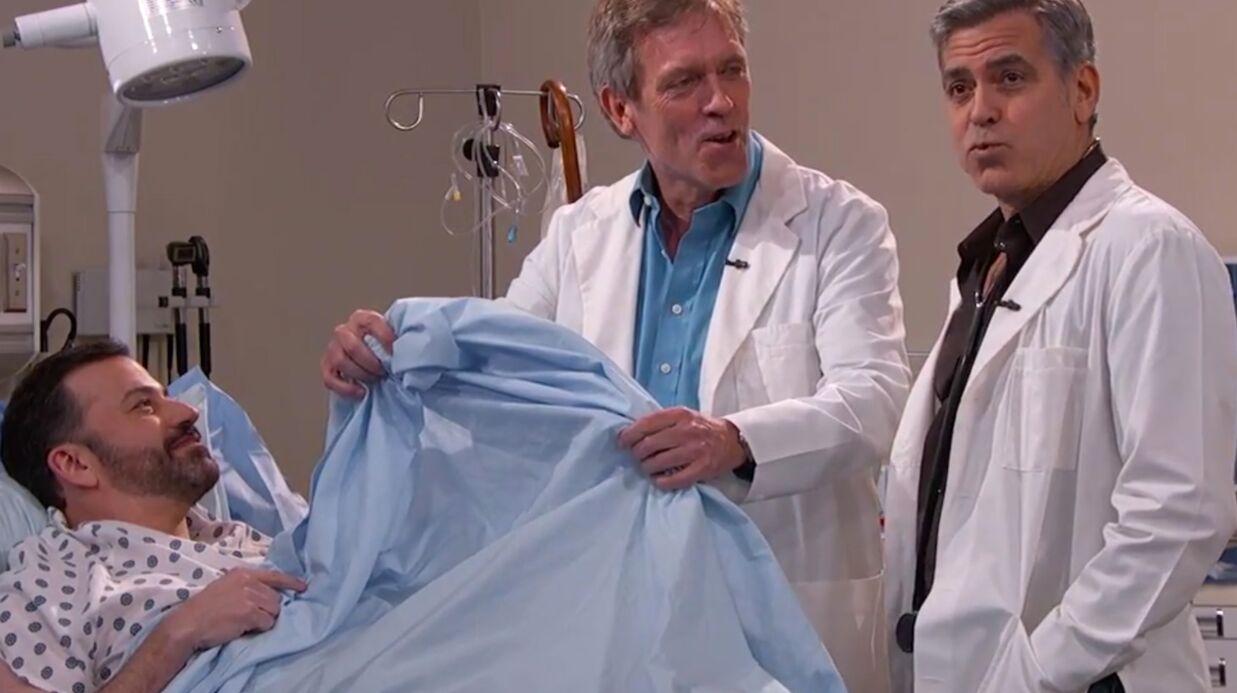 VIDEO George Clooney et Hugh Laurie: Dr House et Dr Ross au chevet de Jimmy Kimmel