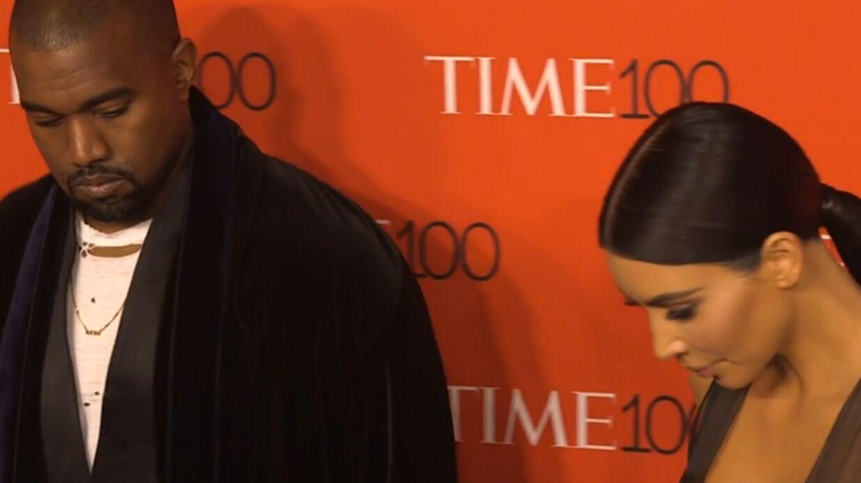 PHOTOS Kanye West et Kim Kardashian: une femme tombe à leurs pieds, ils restent impassibles