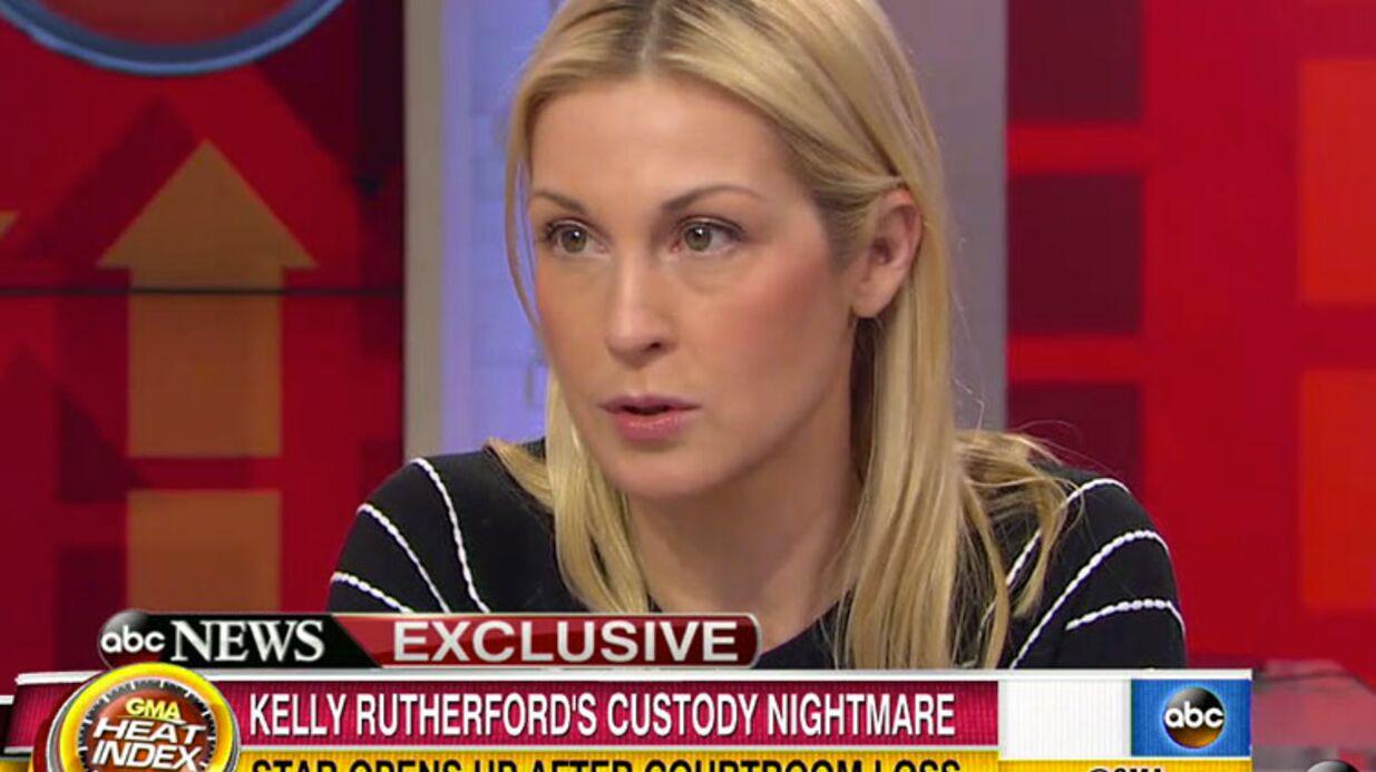 VIDEO Kelly Rutherford raconte l'enfer de la dernière audience qui l'a vue perdre ses enfants
