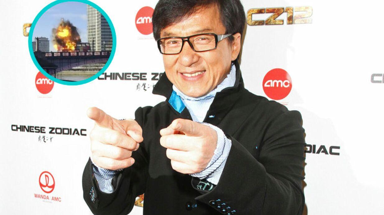 VIDEO Jackie Chan: L'explosion d'un bus pour un film terrorise les Londoniens