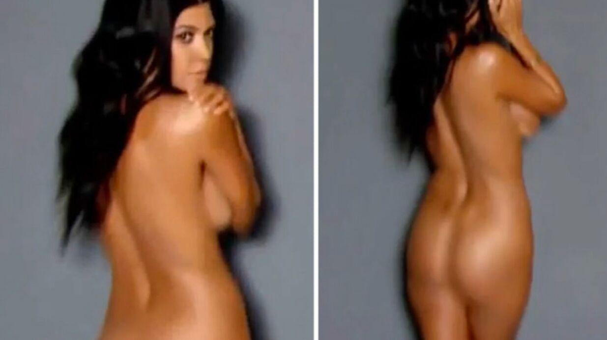 VIDEO Kourtney Kardashian entièrement nue pour un shooting sexy