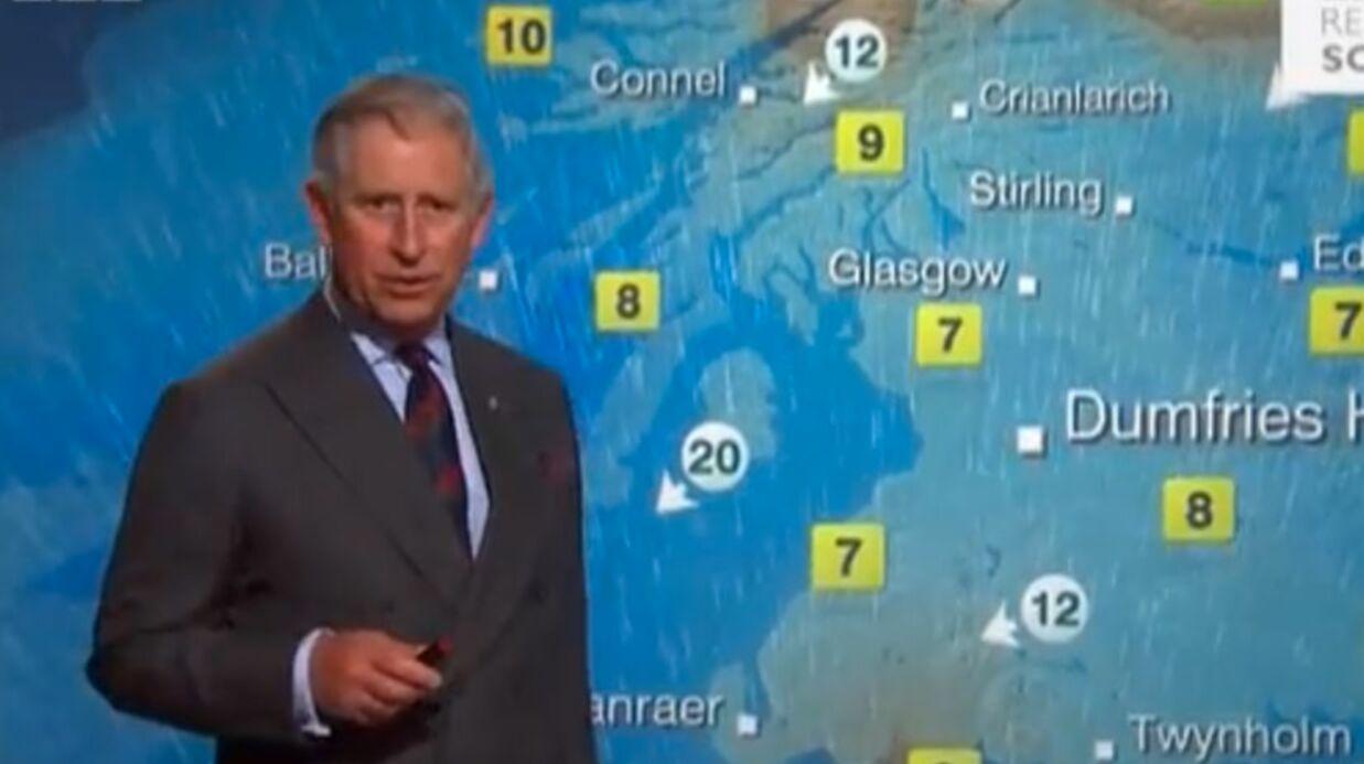 VIDEO Le prince Charles en présentateur météo loufoque