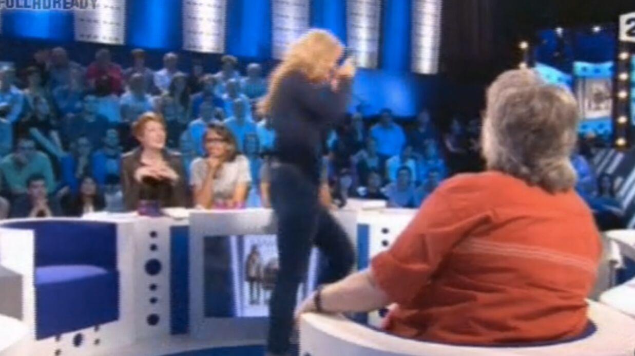 VIDEO Mathilde Seigner quitte un plateau télé sans raisons