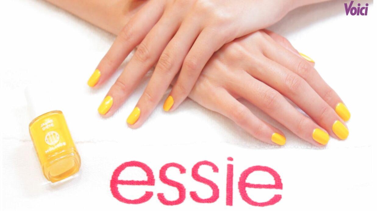 VIDEO Tuto manucure: brillez avec le jaune d'été Molitor Essie Pro
