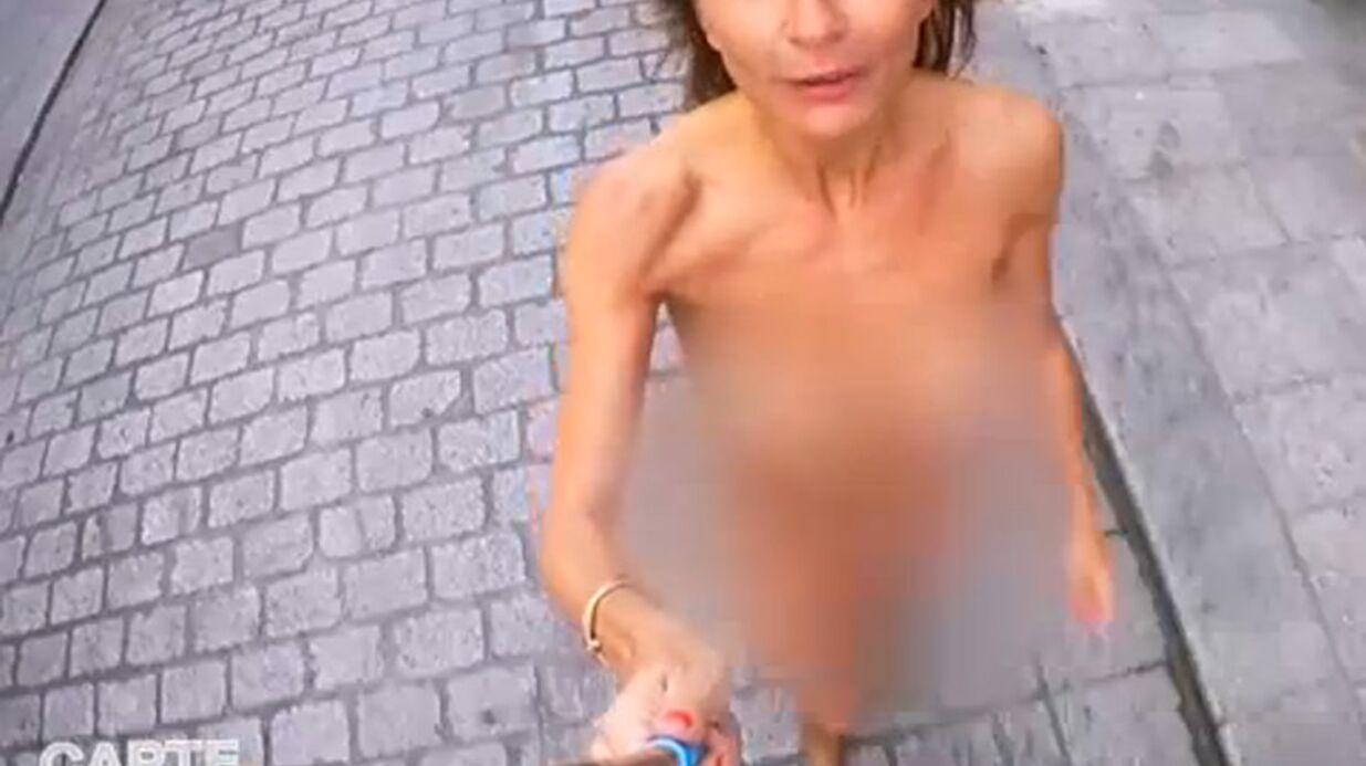 VIDEO Axelle Laffont entièrement nue dans les rues de Paris pour Le Grand Journal