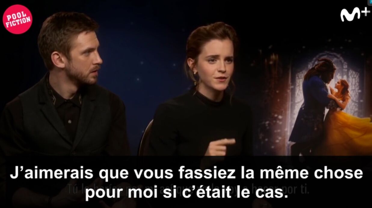 VIDEO Emma Watson: sa réaction surprenante et adorable devant une journaliste au menton barbouillé