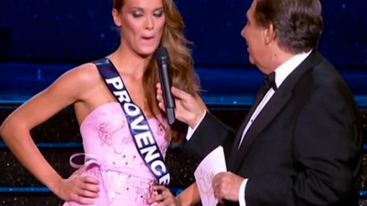 VIDEO Miss France 2015: Miss Provence attribue son terrible cafouillage à Jean-Pierre Foucault