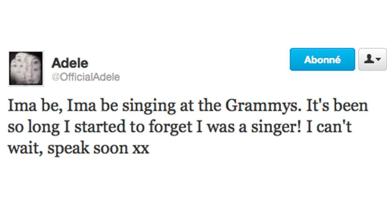 Adele chante à nouveau après son opération