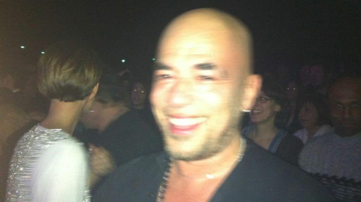 PHOTOS Pascal Obispo en larmes devant Johnny Hallyday