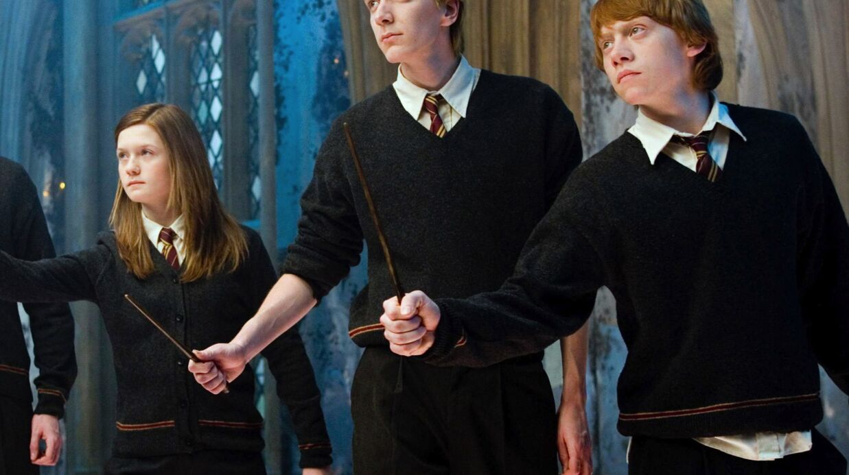 PHOTO Rupert Grint et Bonnie Wright : les retrou­vailles de Ron et Ginny Weas­ley d'Harry Potter