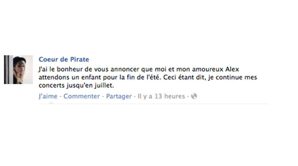 Cœur de Pirate est enceinte!