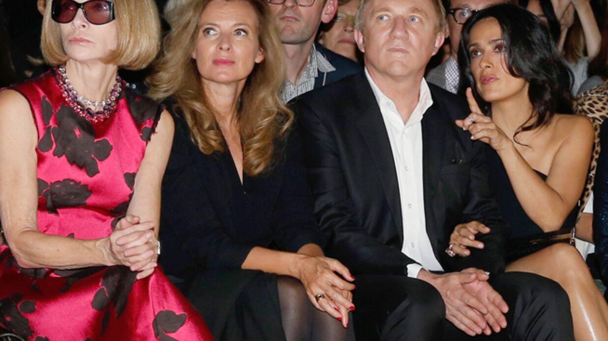 DIAPO Valérie Trierweiler et Salma Hayek ensemble chez Saint Laurent