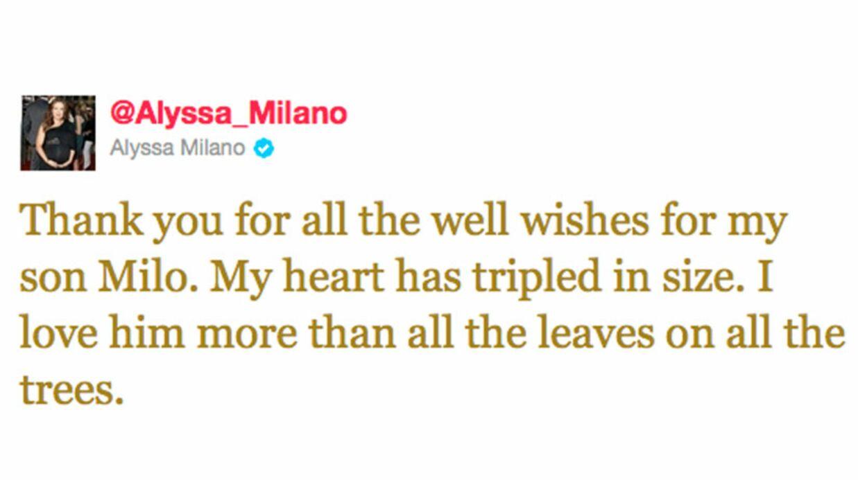 Alyssa Milano a accouché d'un garçon: Milo Thomas