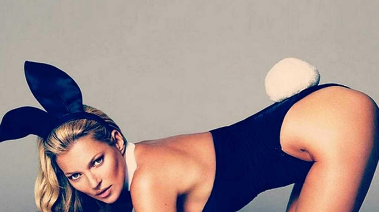 Kate Moss ultra hot pour la couverture des 60 ans de Playboy