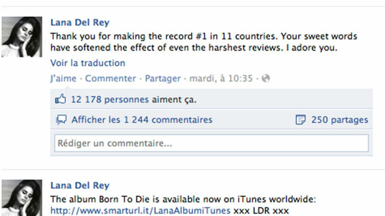 Lana Del Rey: son album en têtes des ventes iTunes dans 14 pays