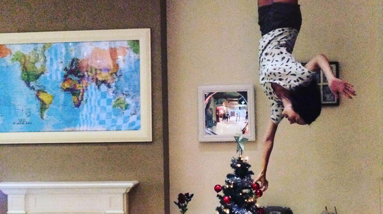 PHOTO Nathalie Péchalat marche au plafond et surprend les internautes