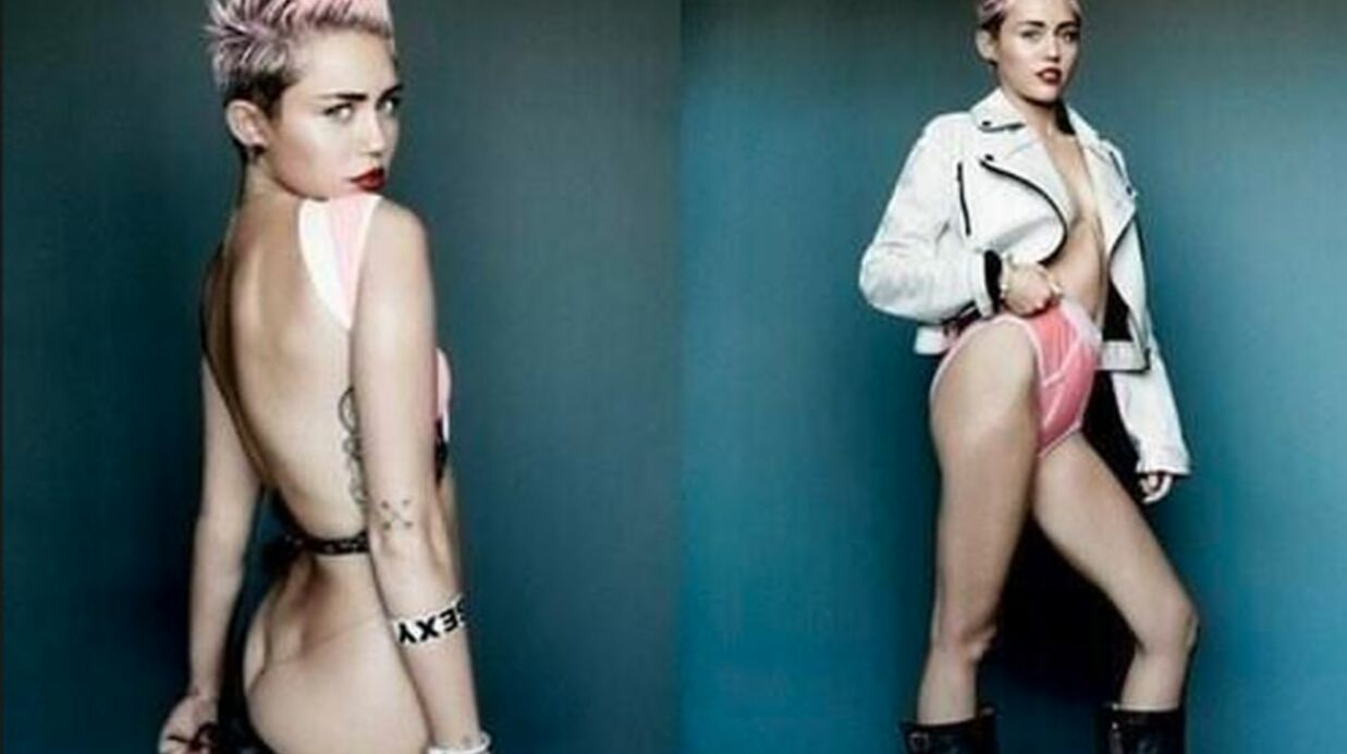 PHOTOS Miley Cyrus : son shoo­ting ultra provo­cant pour V Mag