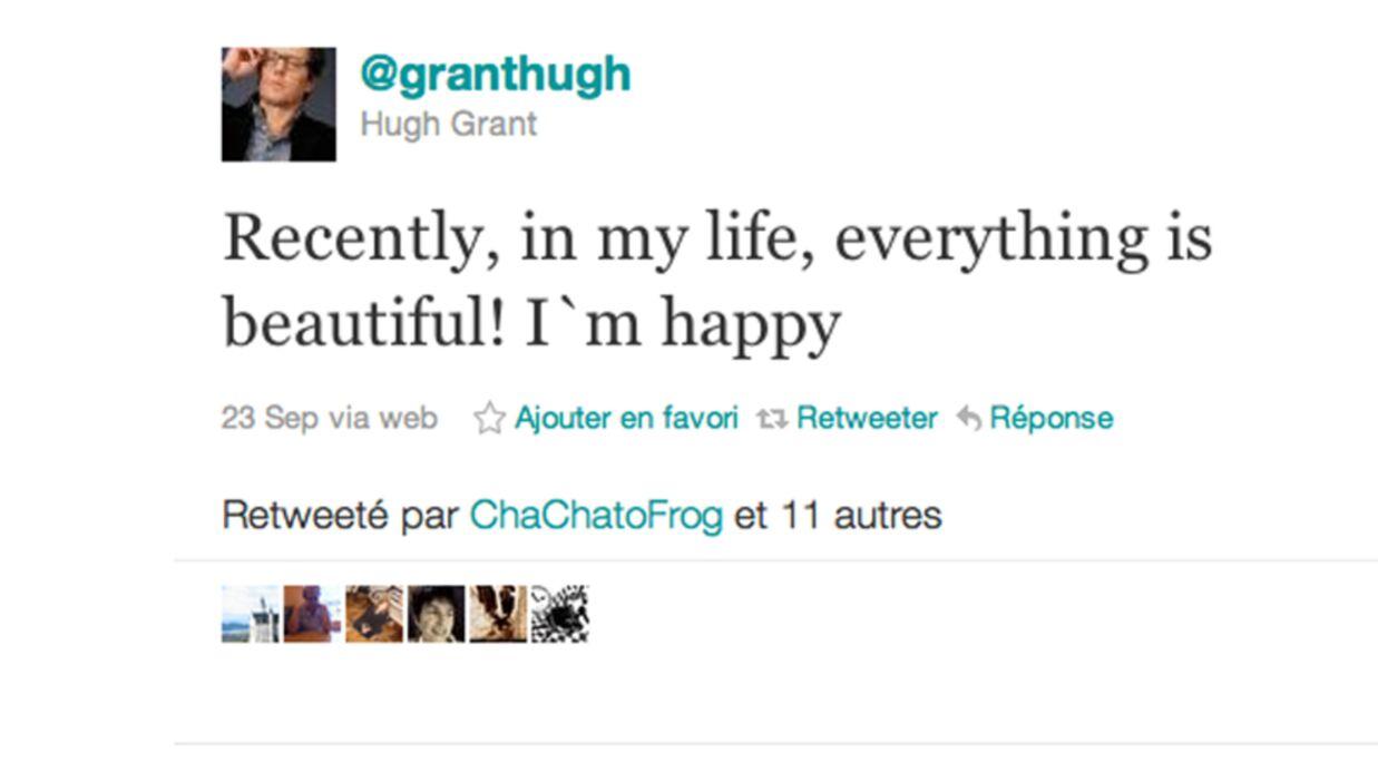 Hugh Grant papa pour la première fois