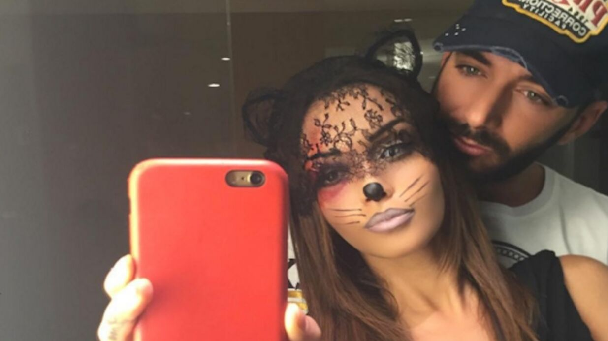 PHOTOS Nabilla en mode Catwo­man pour Hallo­ween avec Thomas Vergara