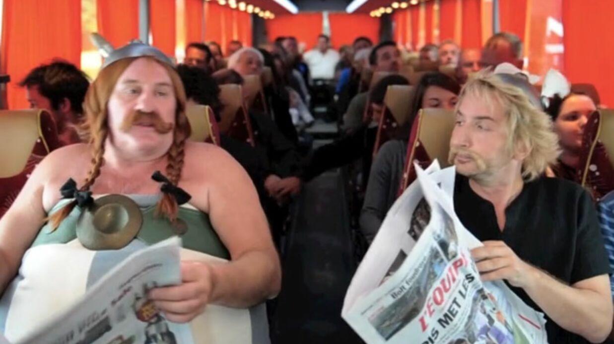 Gérard Depardieu en Obélix pour parodier ses frasques urinaires