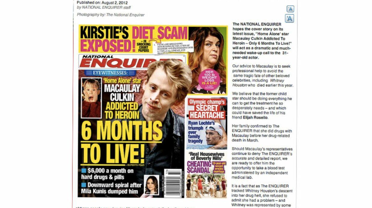 Macaulay Culkin: un dépistage offert pour prouver son addiction