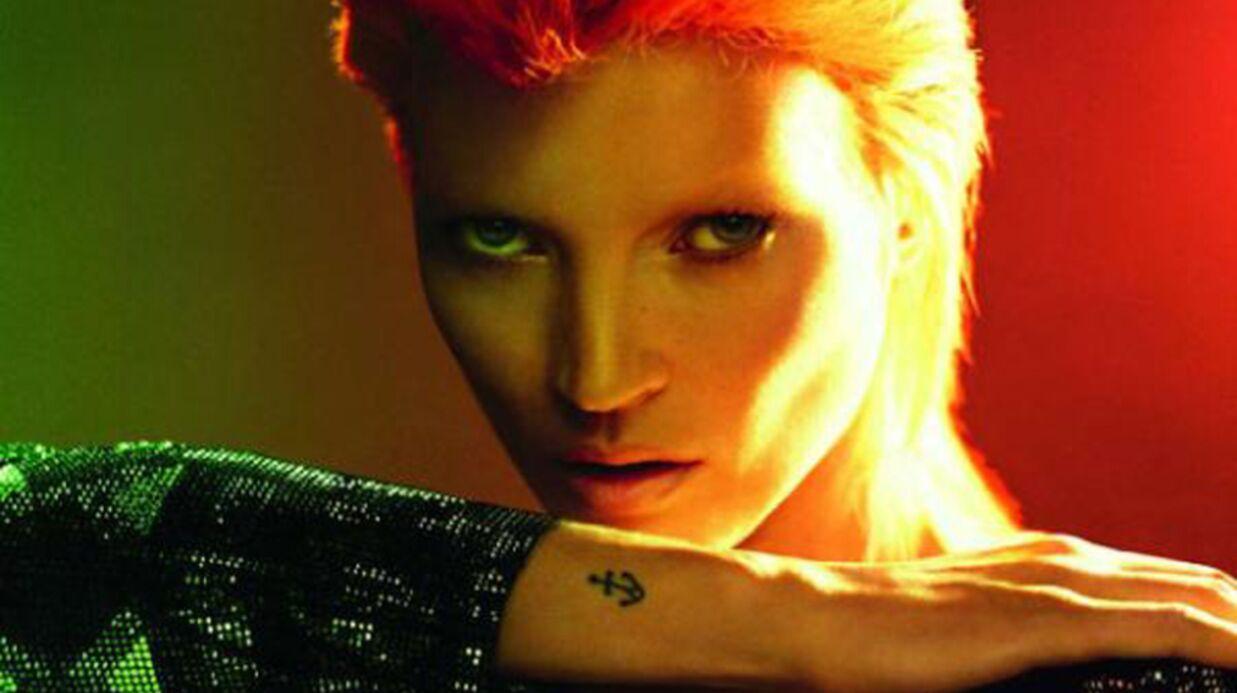 Quand Kate Moss devient David Bowie…