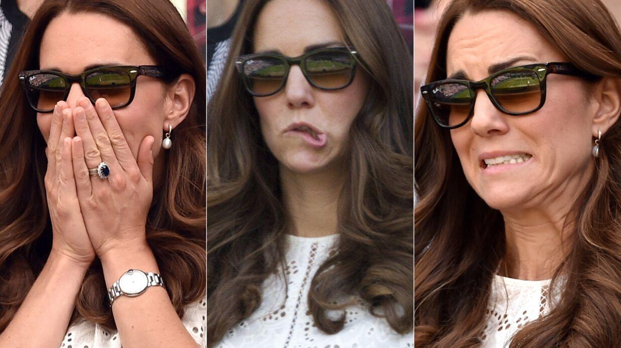 PHOTOS Kate Middleton terriblement stressée à Wimbledon aux côtés du prince William