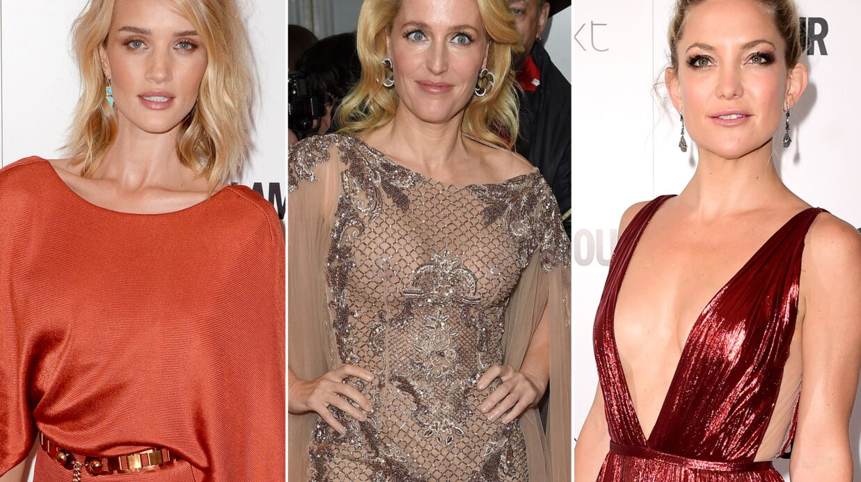 PHOTOS Gillian Ander­son trahie par sa robe, Kate Hudson ultra sexy aux Glamour Awards 2015