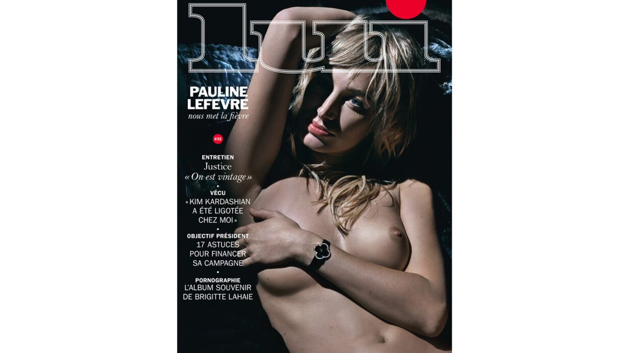 PHOTO Pauline Lefèvre seins nus et torride en couverture de Lui
