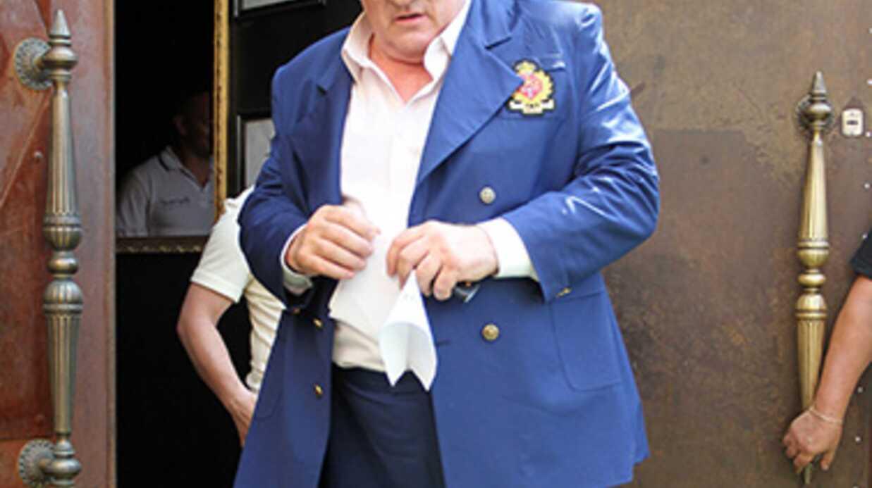 Gérard Depardieu tourne un film à Paris