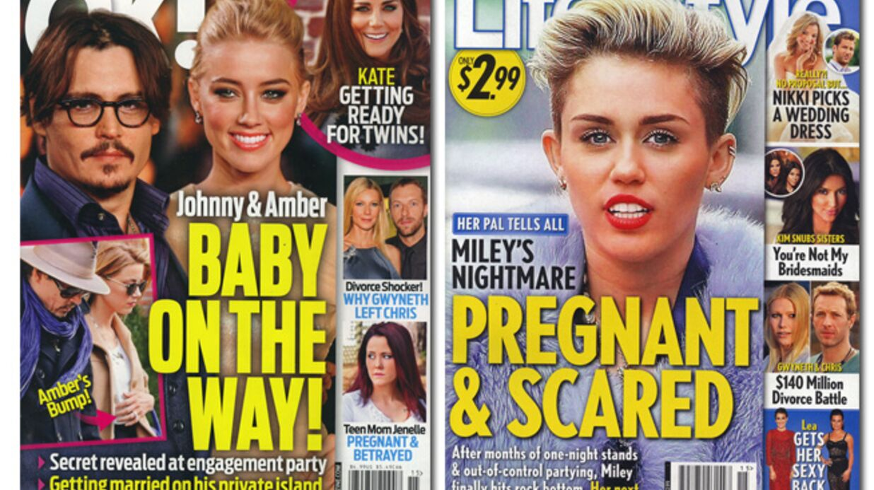 En direct des US: Johnny Depp et Amber Heard vont avoir un enfant