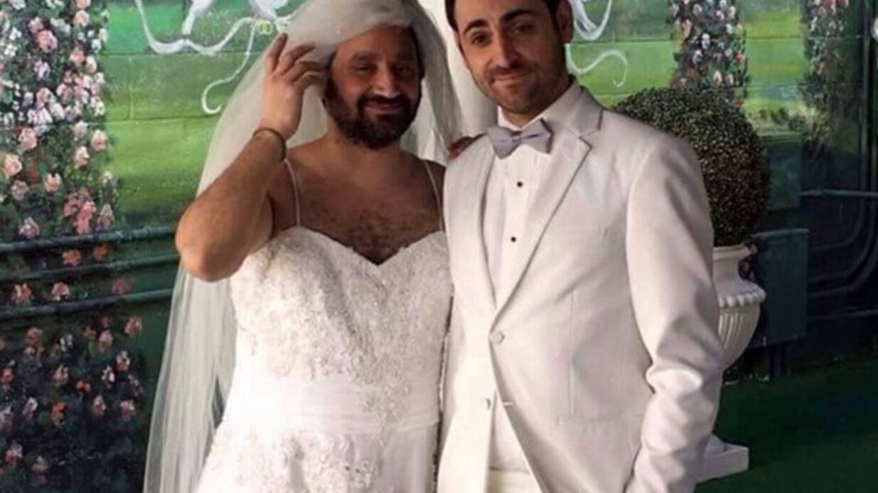 Cyril Hanouna en robe blanche et long voile: les photos de son mariage avec Camille Combal à Las Vegas