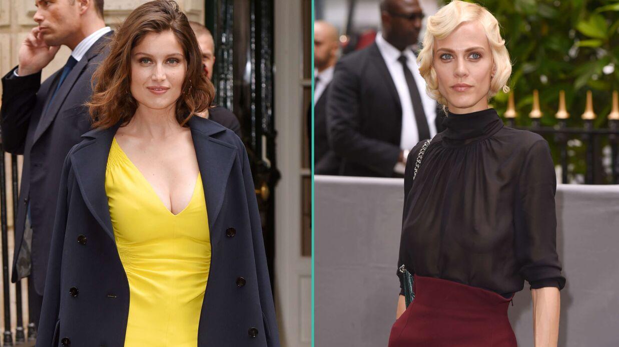 PHOTOS Laetitia Casta très décolletée, une actrice française seins nus… défilé de people pour Dior