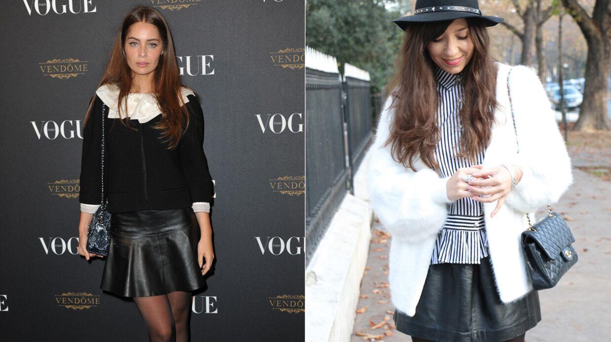Le shopping de Marieluvpink: on adopte la petite jupe en cuir comme Marie-Ange Casta