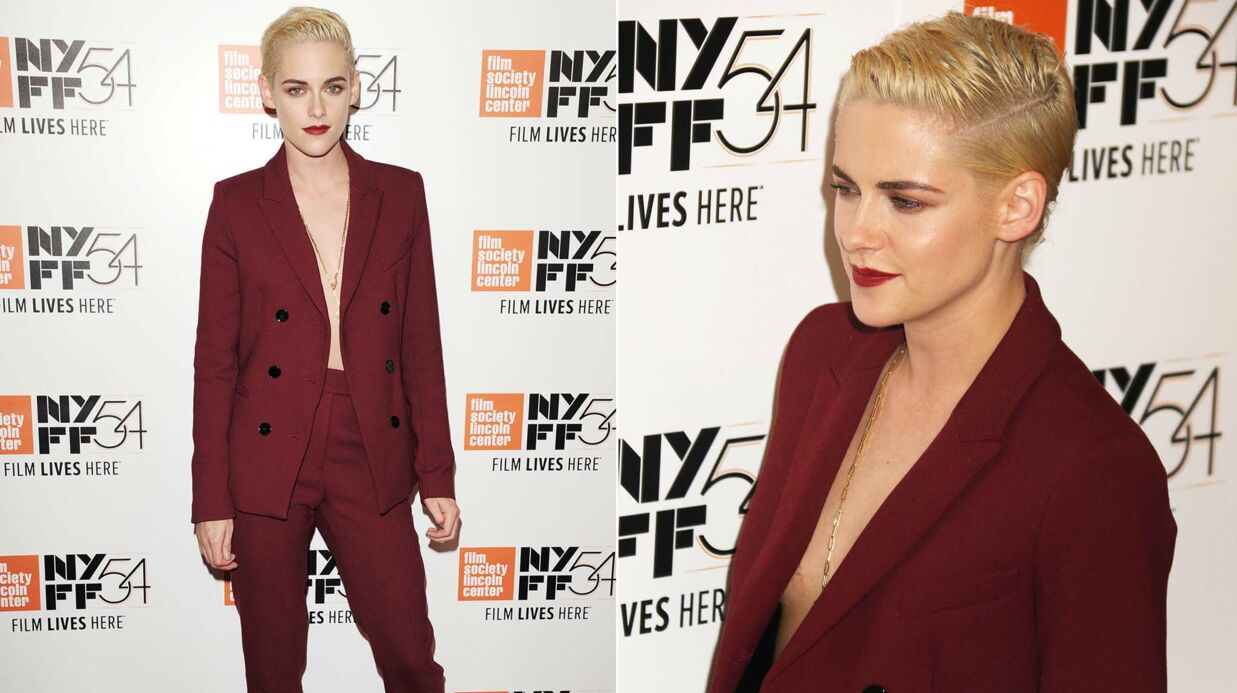 PHOTOS Kris­ten Stewart canon et ultra décol­le­tée au New York Film Festi­val