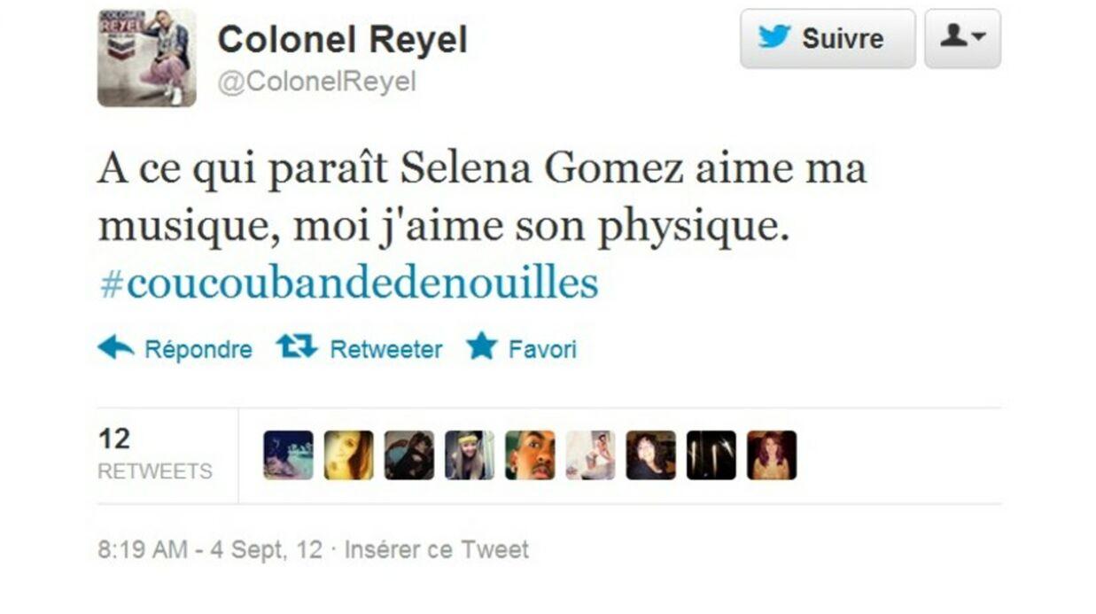 Colonel Reyel drague Selena Gomez sur Twitter