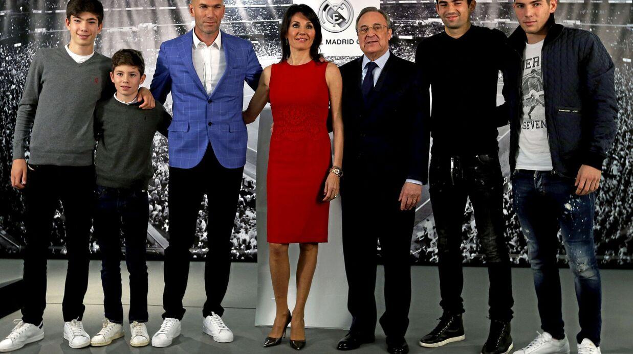 PHOTO Zinédine Zidane entouré de ses 4 fils et de sa femme pour son grand jour