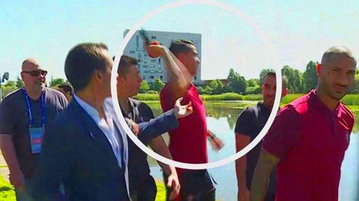 Cristiano Ronaldo: le micro qu'il a arraché et jeté à l'eau va être vendu aux enchères
