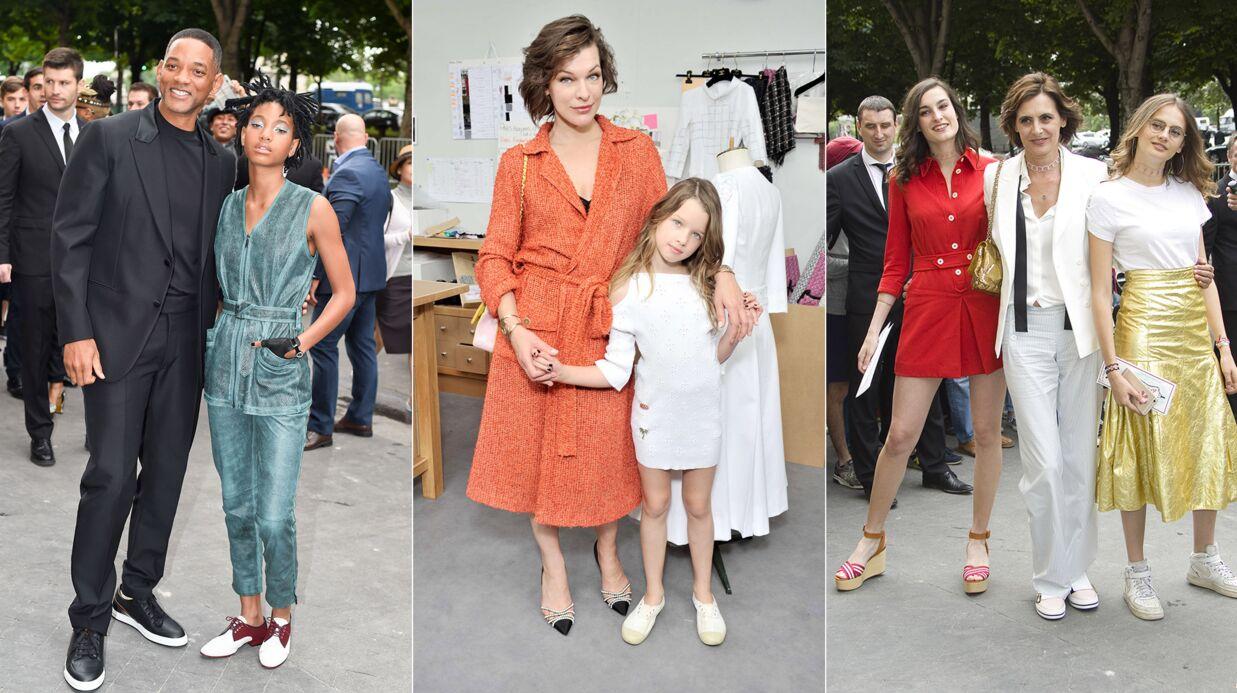 PHOTOS Will Smith, Inès de la Fressange, Milla Jovovich… les stars emmènent leurs enfants au défilé Chanel