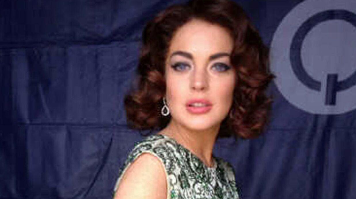 PHOTOS Lindsay Lohan dans la peau d'Elizabeth Taylor