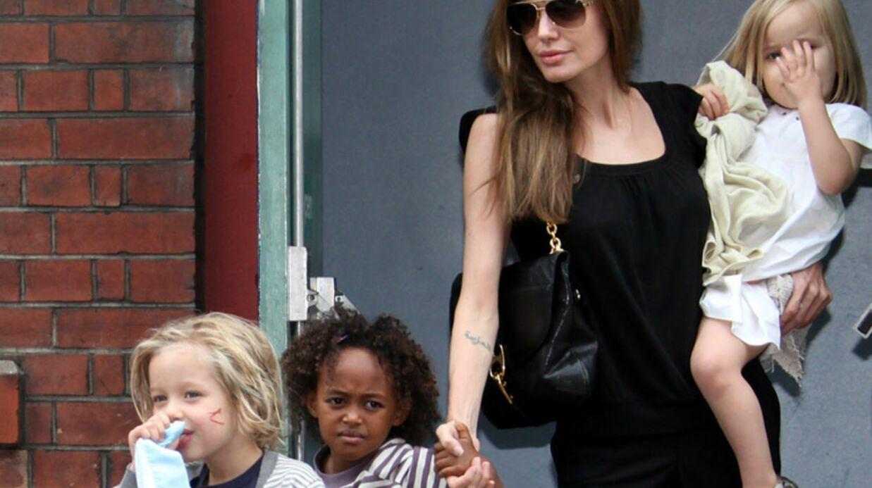 Les enfants d'Angelina Jolie et Brad Pitt inscrits à l'école